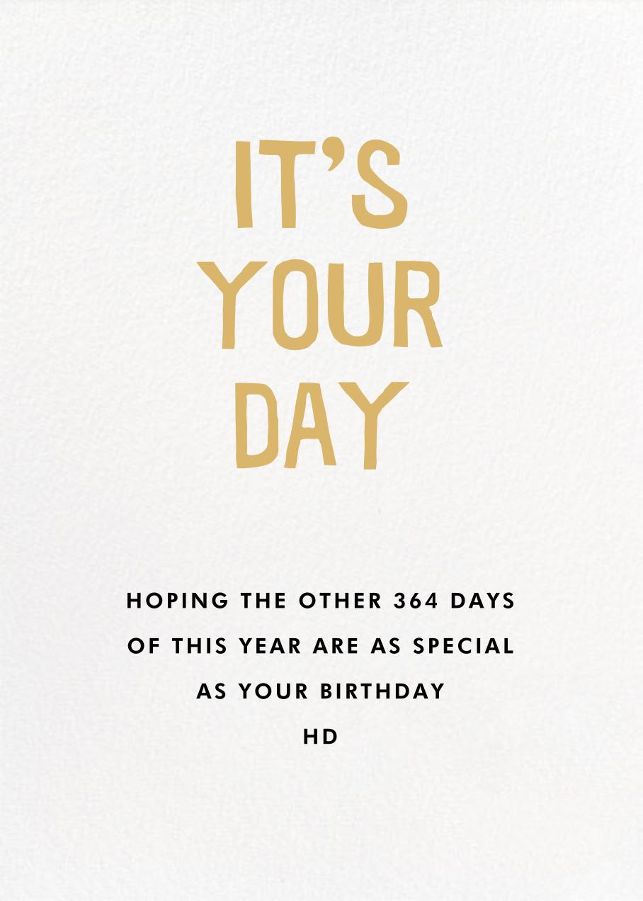 Sunny Birthday - Hello!Lucky - Summer Favorites - card back