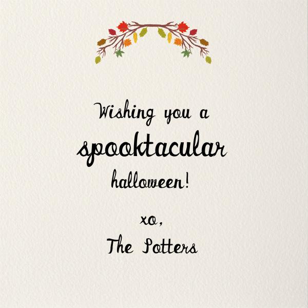 A Folk Tale - Paperless Post - Halloween - card back
