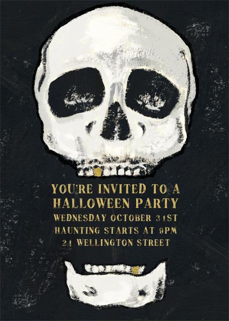 Seymour Bones - Paperless Post - Halloween