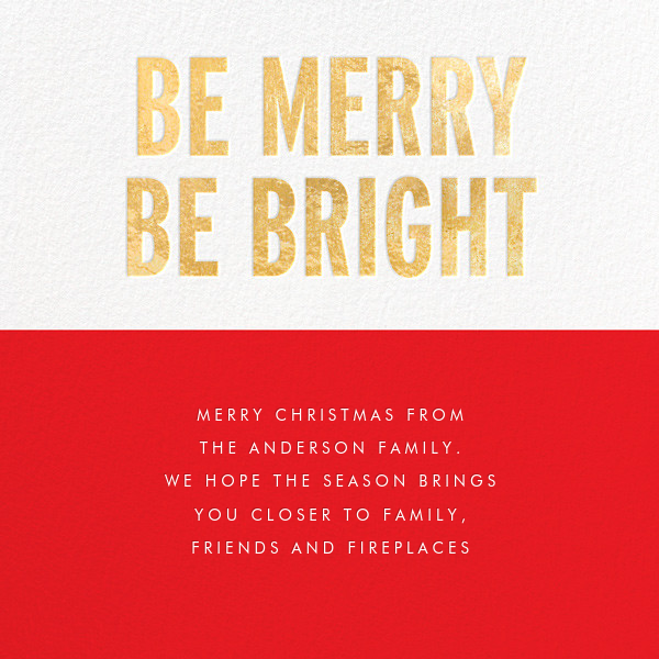 Be Merry Be Bright (Greeting) - Gold - kate spade new york