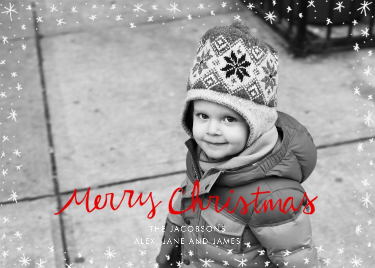 Christmas Wink (Horizontal) - Red - Linda and Harriett - Christmas