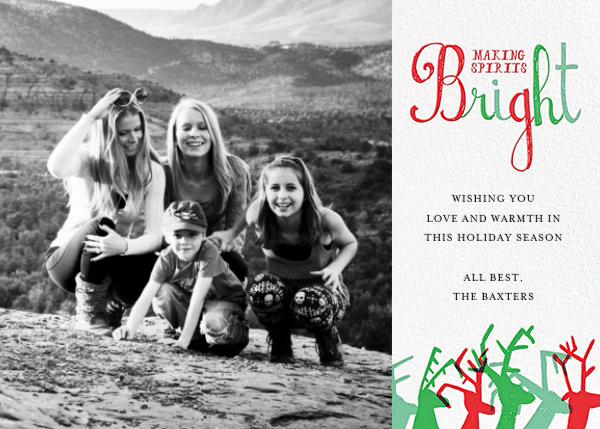 Reindeer Love (Photo) - Red/Green - Mr. Boddington's Studio