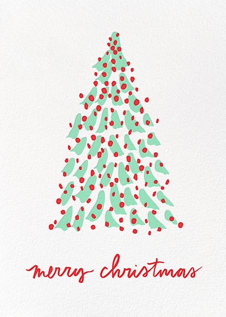 Kaleidoscopic Christmas (Greeting) - Mint - Linda and Harriett - Christmas