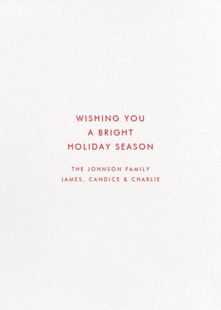 Kaleidoscopic Christmas (Greeting) - Mint - Linda and Harriett - Christmas - card back