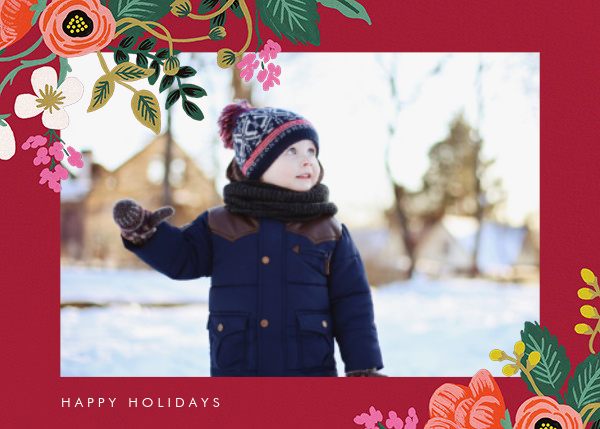 Birch Monarch (Horizontal Photo) - Red - Rifle Paper Co. - Holiday cards