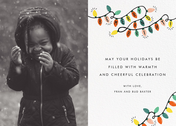Glow Strings Attached (Horizontal Photo) - Rifle Paper Co. - Holiday cards