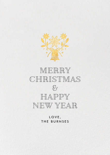 Bells and Boughs - White - Hello!Lucky - Holiday cards - card back