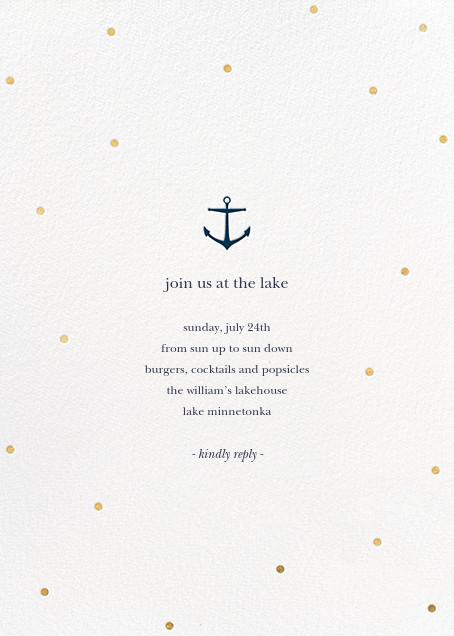 Nautical Dots - Gold - Sugar Paper - General entertaining