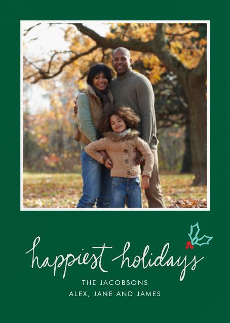 Holiday Holly - Green - Linda and Harriett