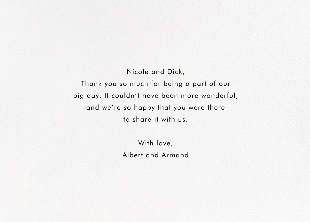 Field of Thanks Photo (Double-Sided) - Rose Gold - Paperless Post - Back