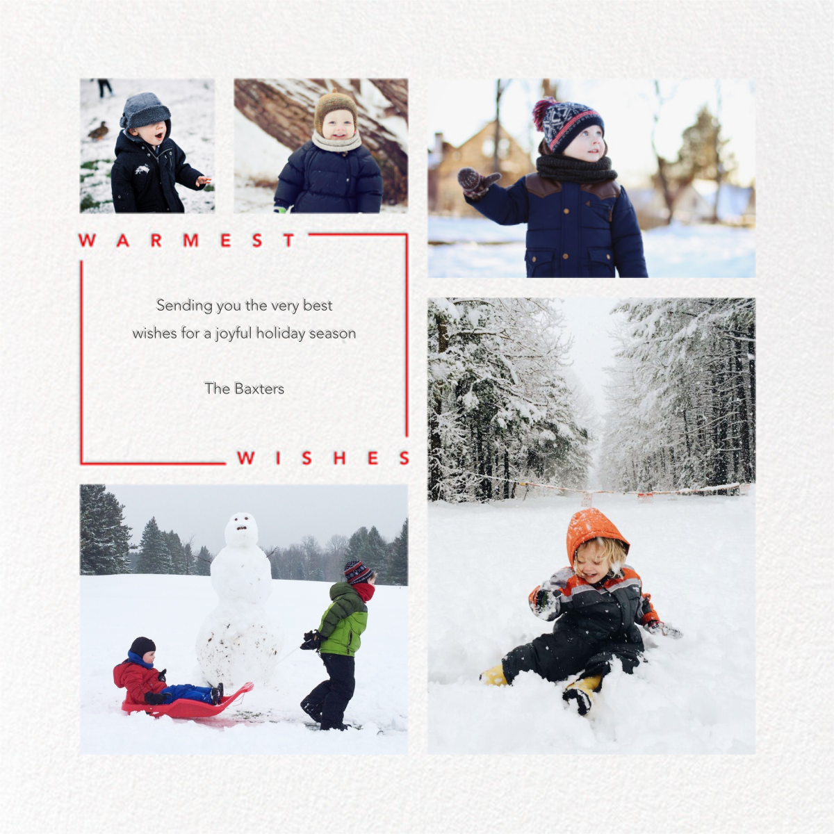 Minimalist Wishes (Square) - Paperless Post - Holiday cards