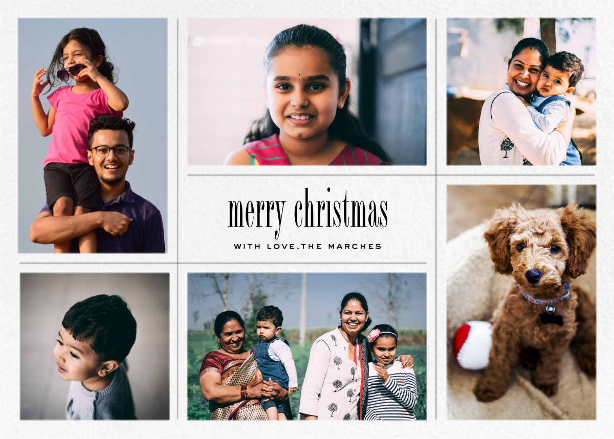 Big Picture Christmas (Six-Photo Horizontal) - Paperless Post - Christmas