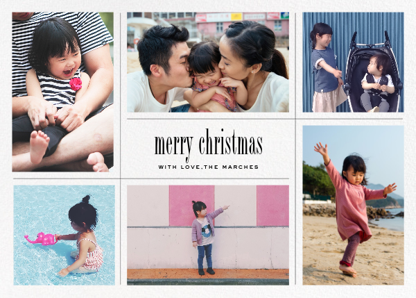 Big Picture Christmas (Six-Photo Horizontal) - Paperless Post - Holiday Favorites