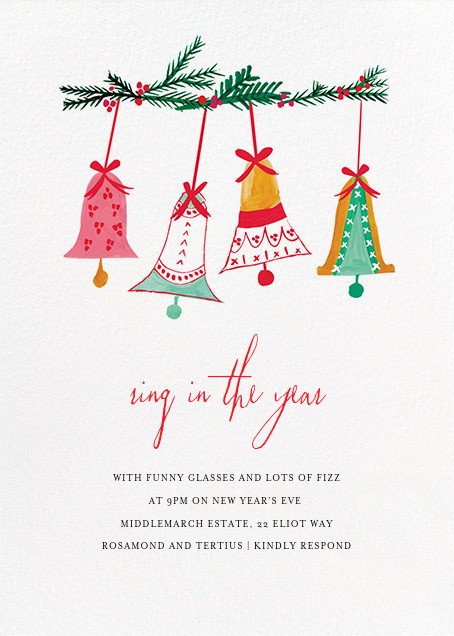 With Bells On (Invitation) - Mr. Boddington's Studio - New Year's Eve