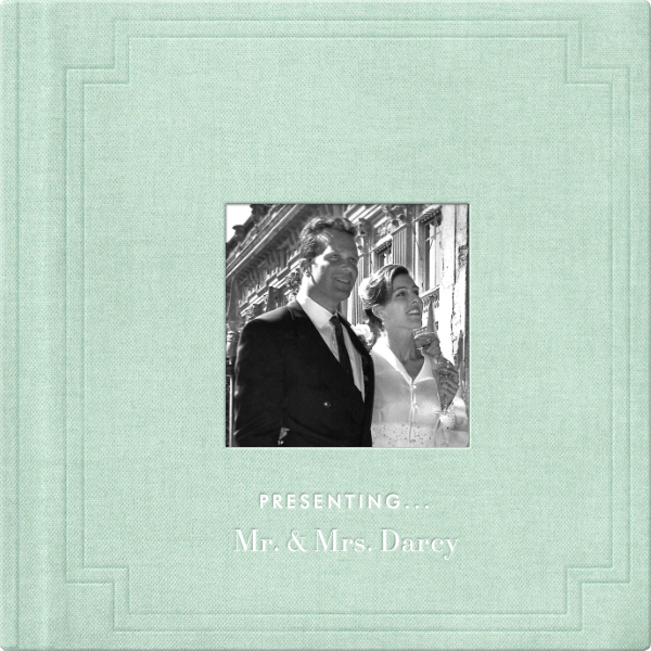 Magazine Photo Cover Album (Mint) - Square - Paperless Post - Wedding