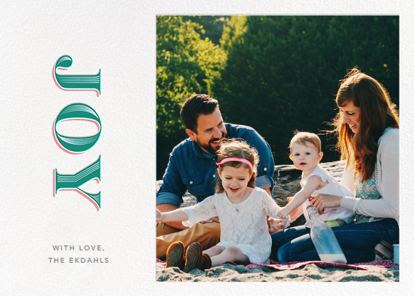 Rising Joy - White - Paperless Post - Holiday cards