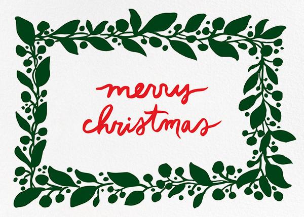 Hedera (Greeting) - Green - Linda and Harriett - Christmas