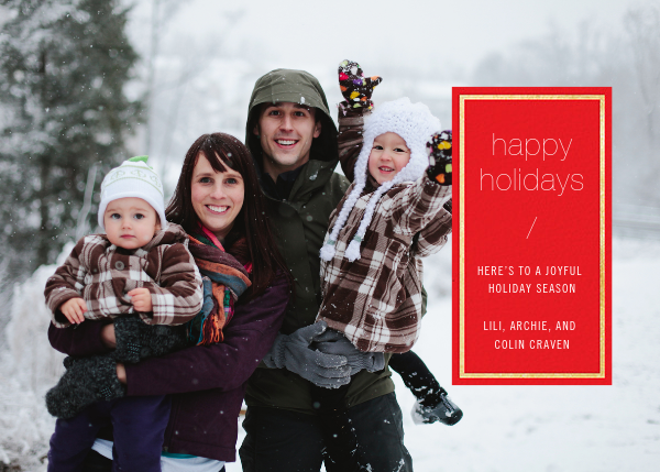 Solidus - Red/Gold - Paperless Post - Holiday cards