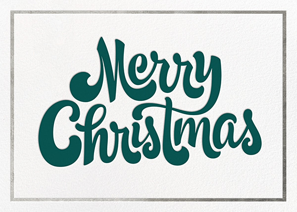Signature Christmas - Silver - Paperless Post - Christmas