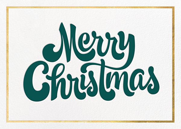 Signature Christmas - Gold - Paperless Post - Christmas