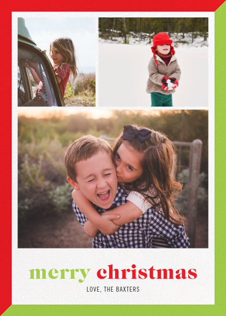 Two-Tone Christmas (Multi-Photo) - Paperless Post