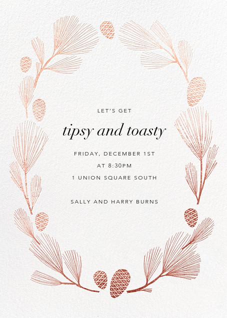 Sugar Pine - White/Rose Gold - Paperless Post - Winter entertaining