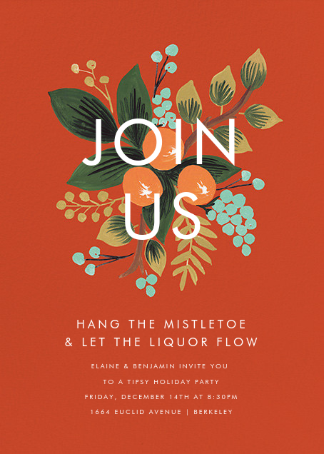 Orange Cluster (Invitation) - Rifle Paper Co. - Winter entertaining