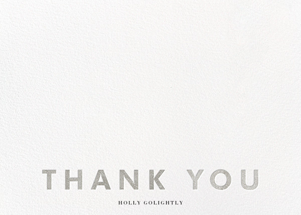 Field of Thanks (Stationery) - White/Silver - Paperless Post - Wedding