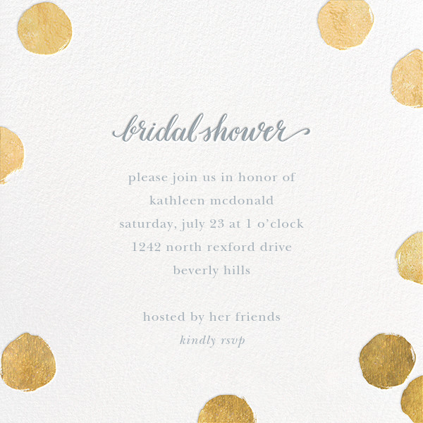 big dot bridal gold