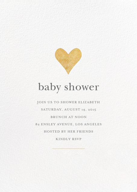 Luminous Heart - White/Gold - Sugar Paper - Baby shower
