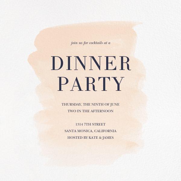 Basic Brushstroke - Bellini - Sugar Paper - Dinner party