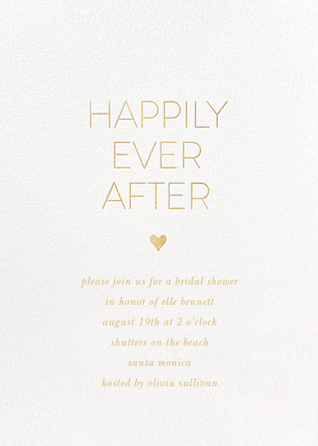 Ever After - White/Gold - Sugar Paper - Bridal shower