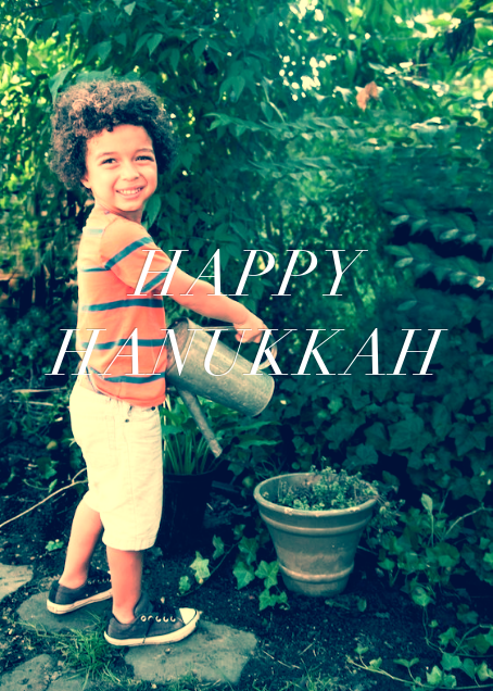 Full-Page Photo Ivory (Double-Sided) - Tall - Paperless Post - Hanukkah