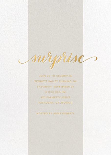 Surprise Stripe - Gray - Sugar Paper - Adult birthday