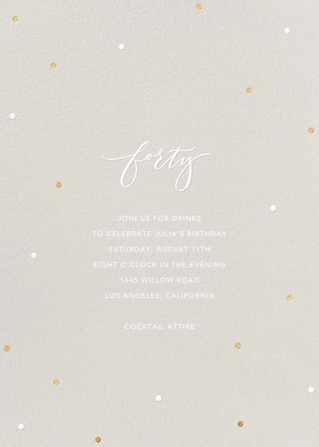 Milestone Dots (Forty) - Gray - Sugar Paper