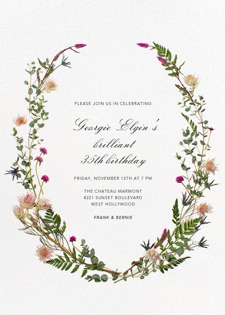 Fleurs Sauvages - Paperless Post - Adult birthday