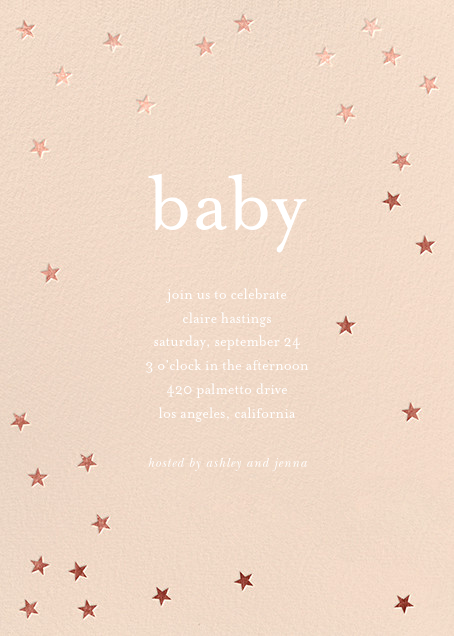Scattered Stars - Pink/Rose Gold - Sugar Paper - Baby shower