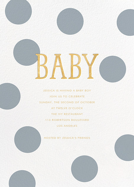Bubble Baby - Pacific - Sugar Paper - Baby shower