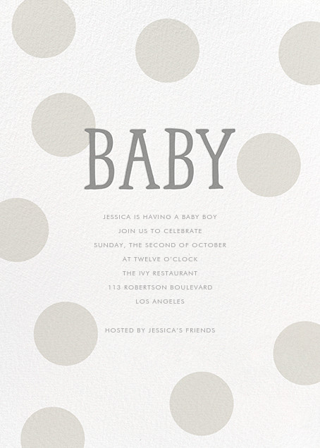 Bubble Baby - Gray - Sugar Paper - Baby shower