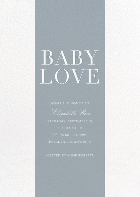 Baby Stripe - Pacific - Sugar Paper - Baby shower