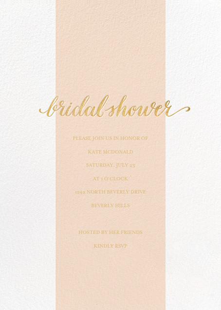 Bridal Stripe - Pink - Sugar Paper - Bridal shower