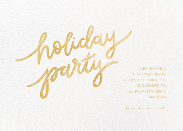 Holiday Script - White/Gold - Sugar Paper