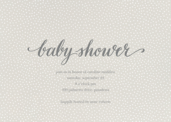 Baby Flurry - Gray - Sugar Paper - Baby shower