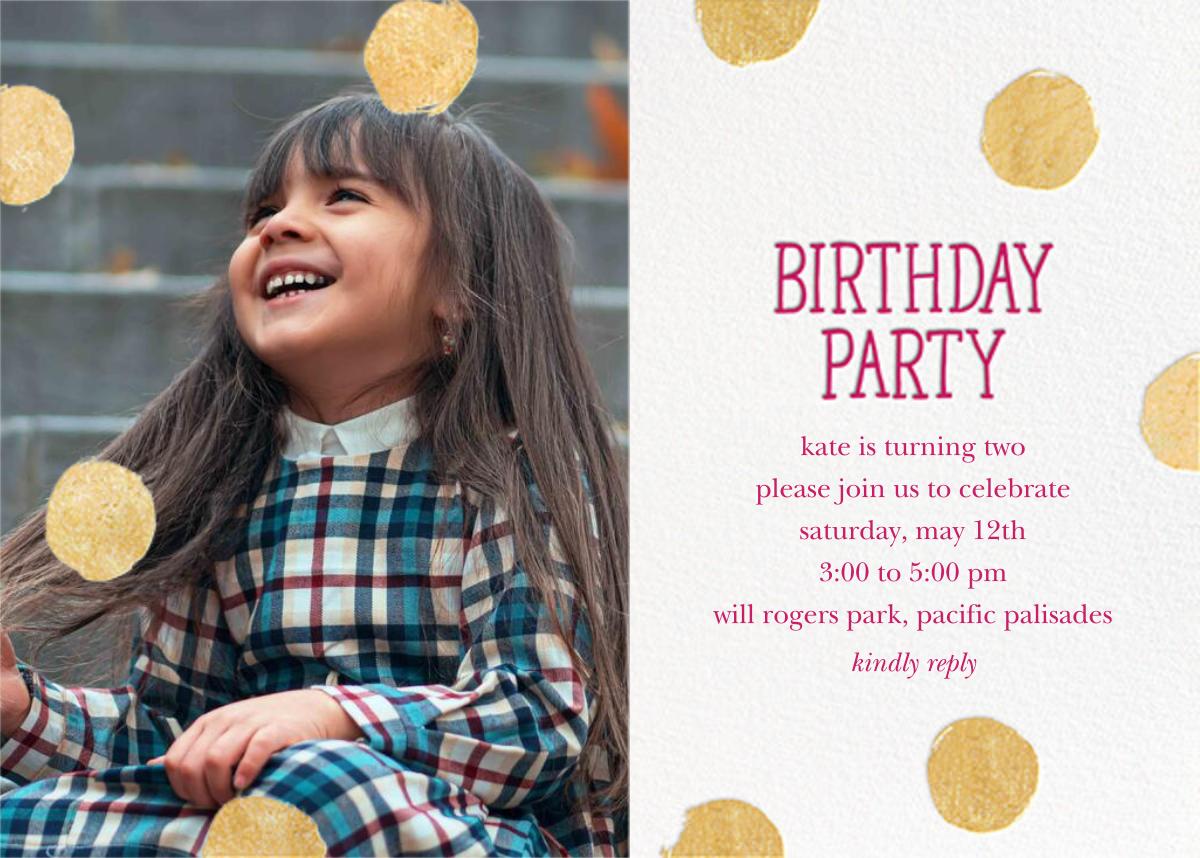 Big Dot Birthday (Photo) - Dragonfruit - Sugar Paper - Kids' birthday