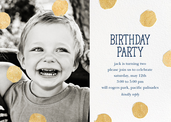 Big Dot Birthday (Photo) - Dark Blue - Sugar Paper - First birthday and baby