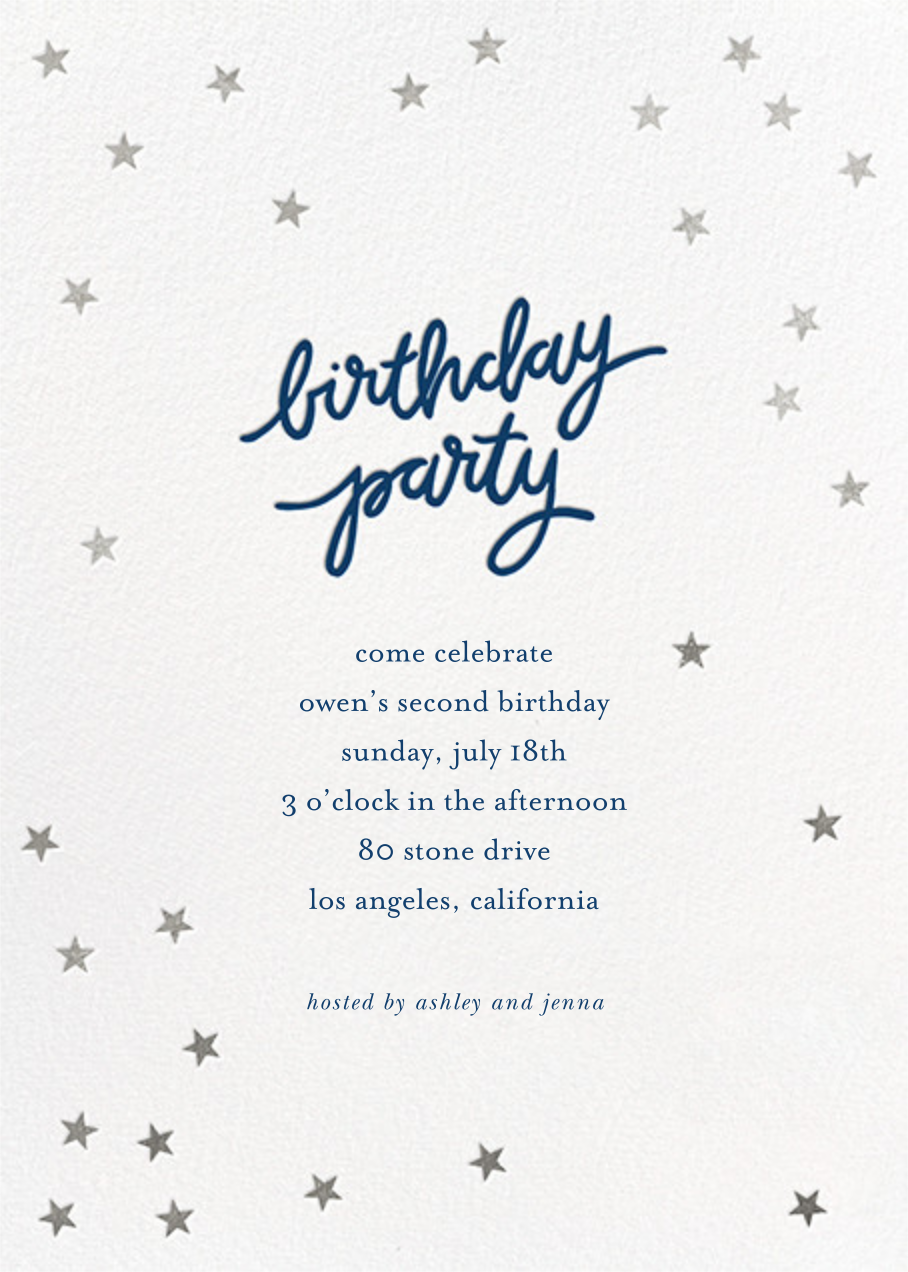 Birthday Stars - Dark Blue/Silver - Sugar Paper - Kids' birthday