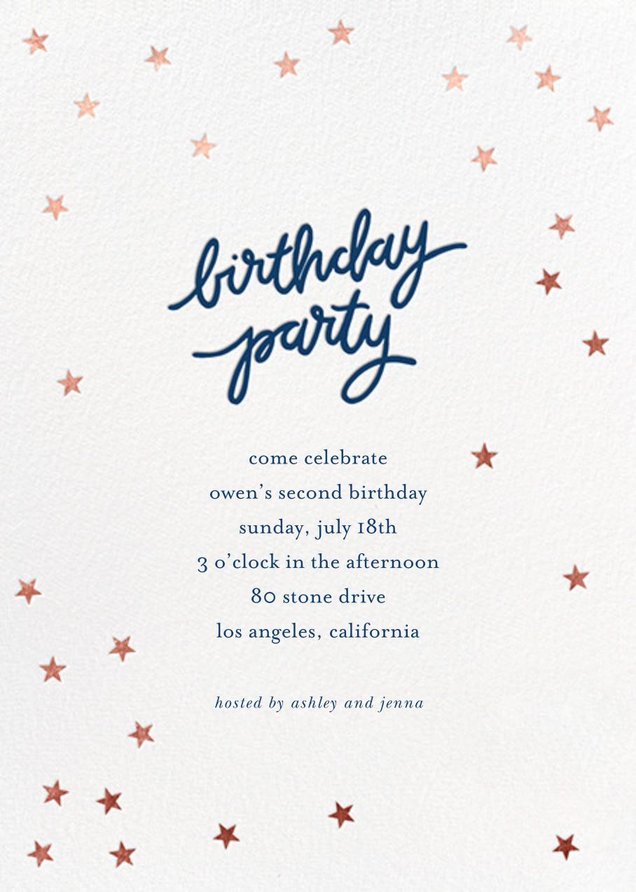 Birthday Stars - Dark Blue/Rose Gold - Sugar Paper - Kids' birthday