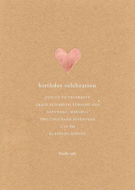 Luminous Heart - Kraft/Rose Gold - Sugar Paper - Kids' birthday
