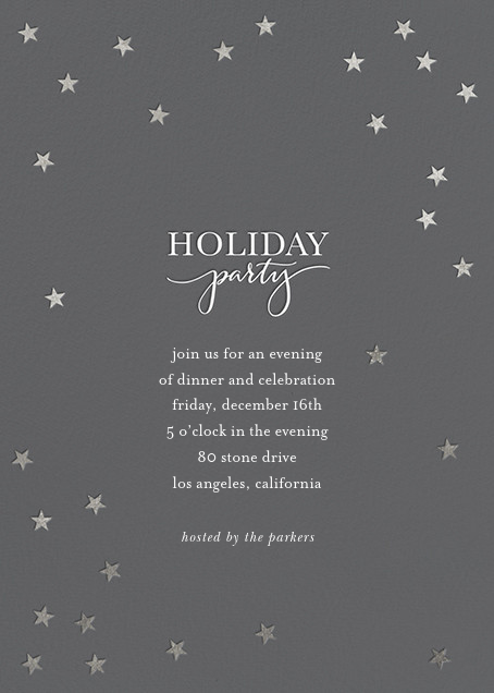 Starry Holiday - Charcoal/Silver - Sugar Paper - Holiday party