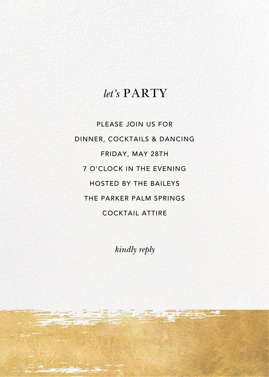 Simple Brushstroke - Sugar Paper - Cocktail party